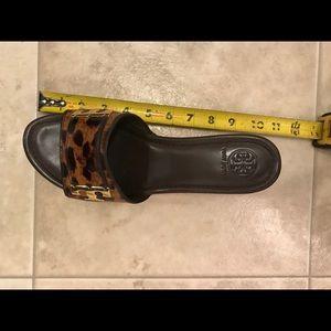 Tory Burch Shoes - Tory Burch Pamela Leopard Wedges size 8.5 💕